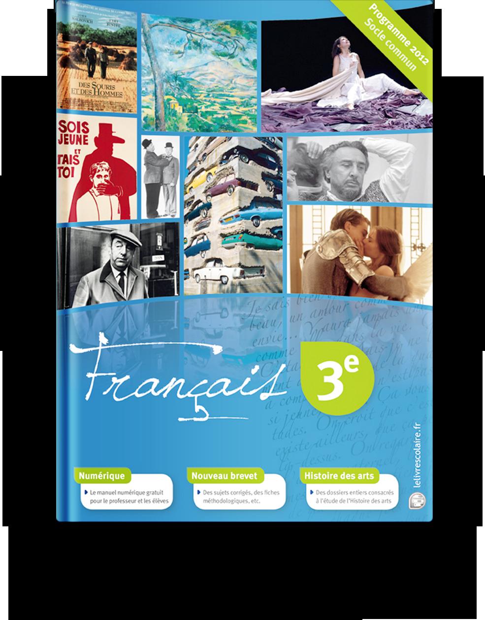 Couverture livre Français 3e