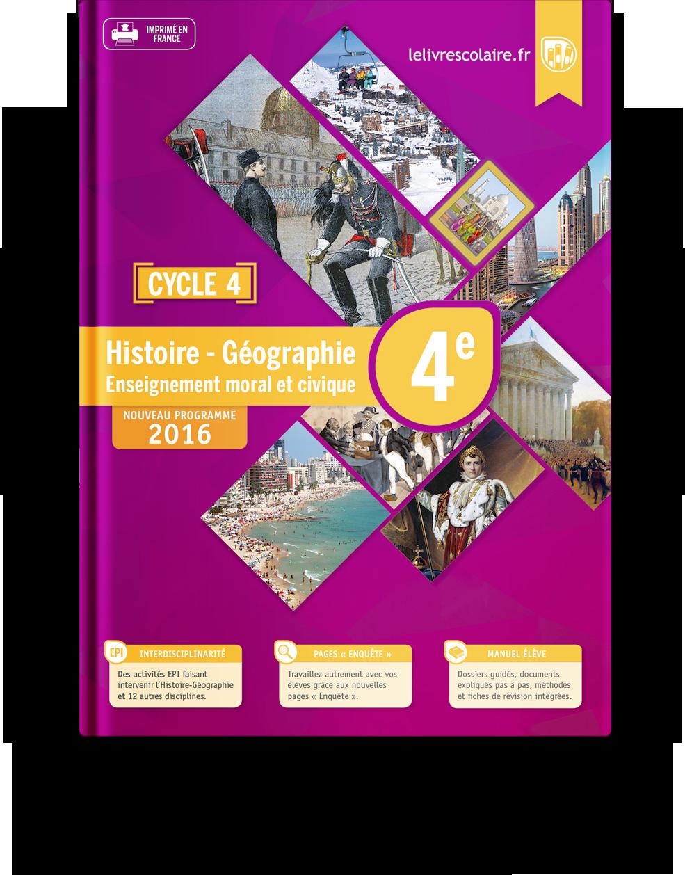 Couverture livre Histoire-Géographie-EMC 4e