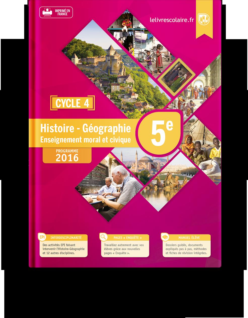 Couverture livre Histoire-Géographie-EMC 5e