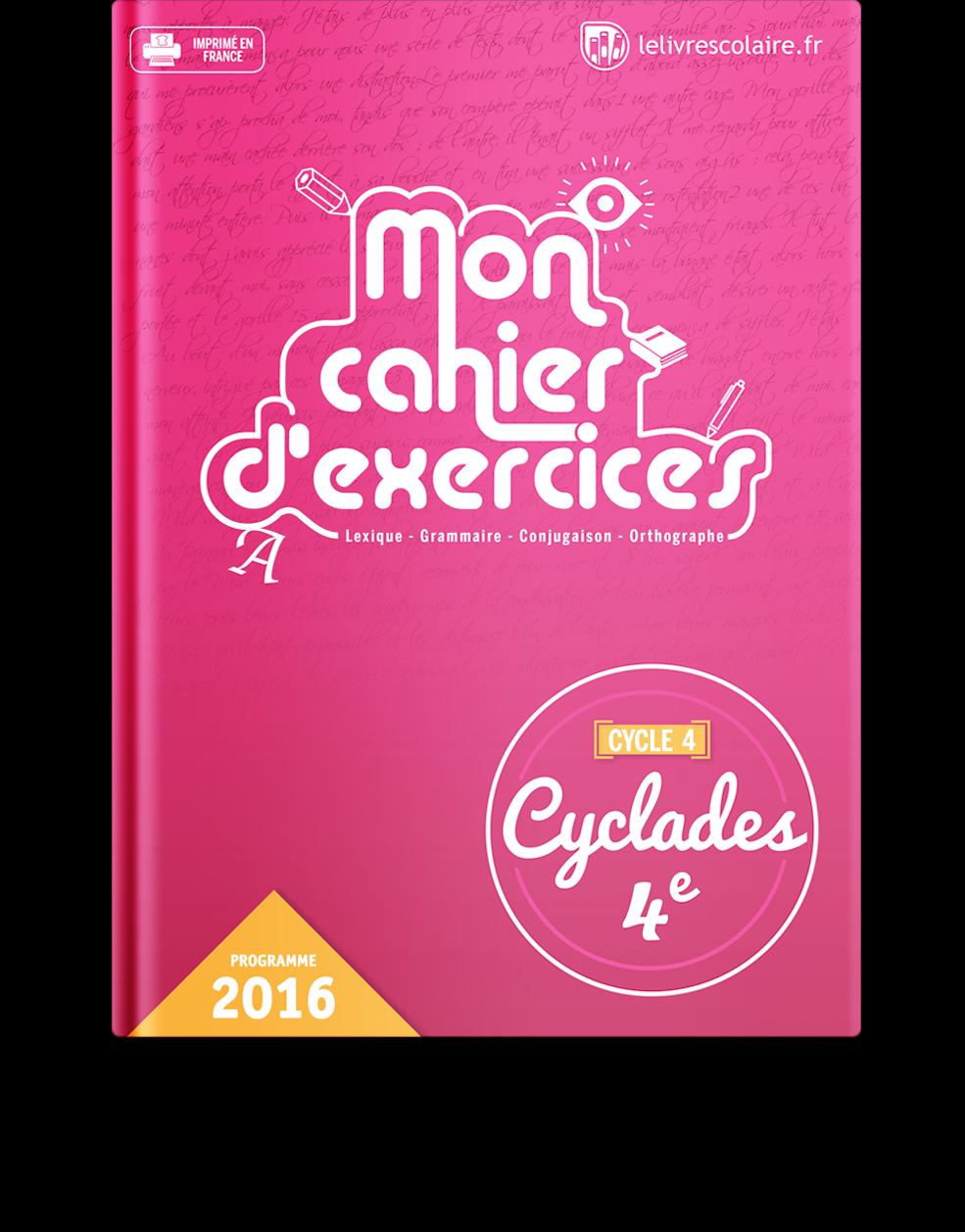 Couverture livre Cahier d'exercices - Français 4e