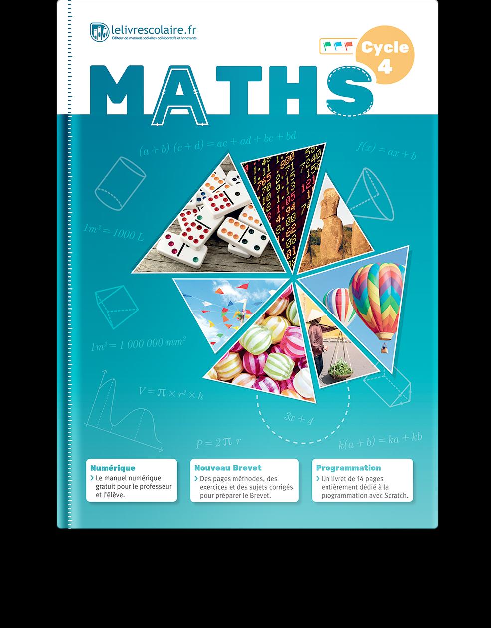 Couverture livre Mathématiques Cycle 4
