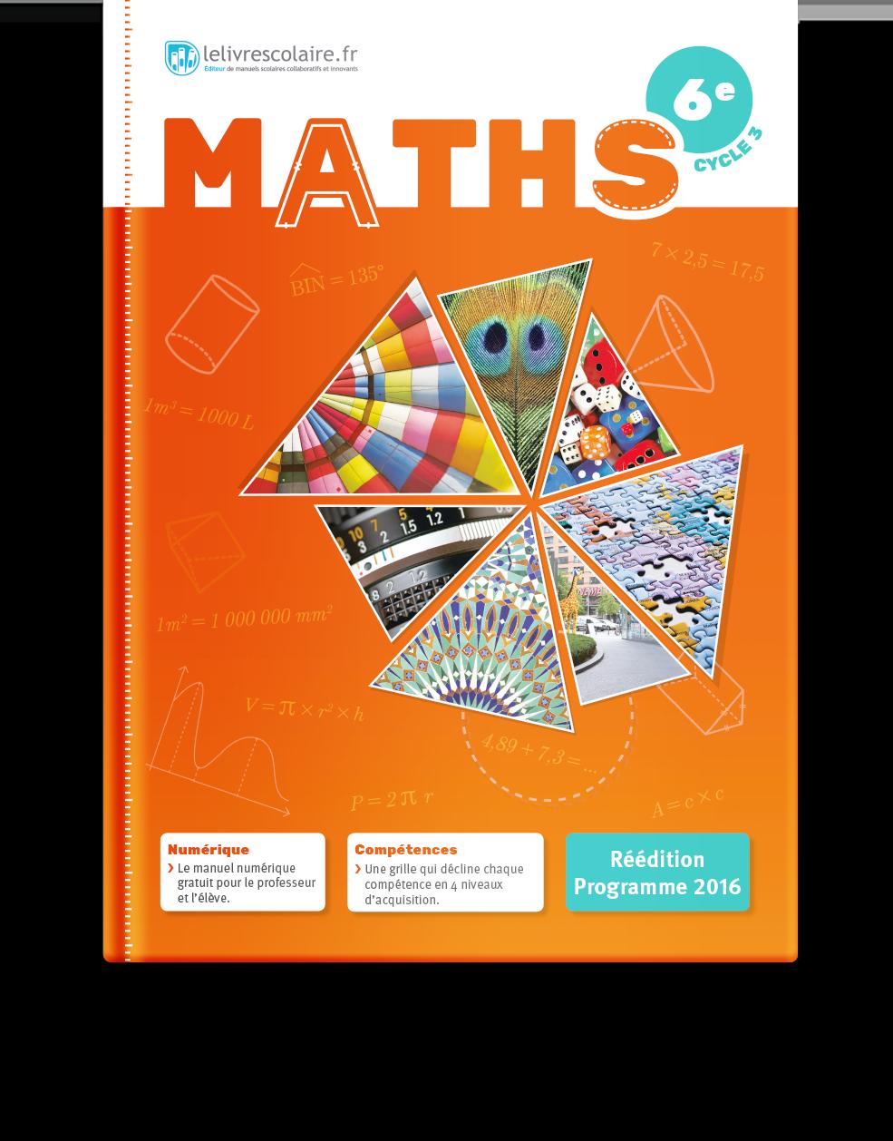 Couverture livre Mathématiques 6e
