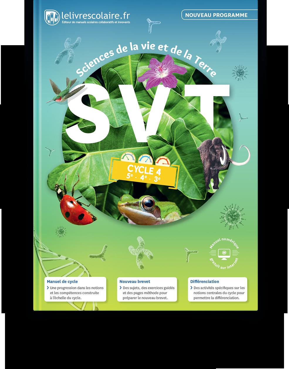 Couverture livre SVT Cycle 4